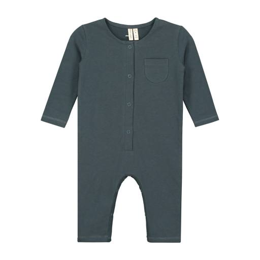 Gray Label - Baby L/S Playsuit, blue grey