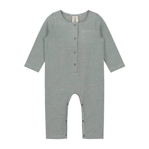 Gray Label - Baby L/S Playsuit, blue grey/cream