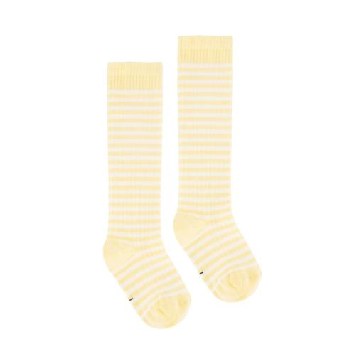 Gray Label - Long Ribbed Socks, mellow yellow/cream