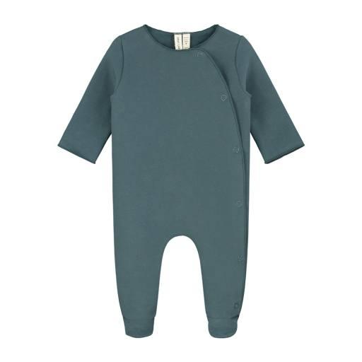 "Gray Label -Baby-Strampler ""Newborn Suit"", blue grey"