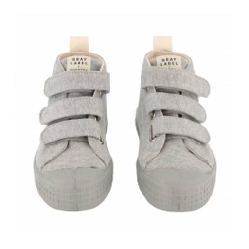 Gray Label - Novesta Fleece Sneakers, Grey Melange