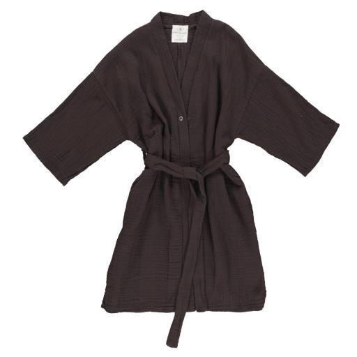 "Gro Company - Bademantel ""Violet Kimono"", black brown"