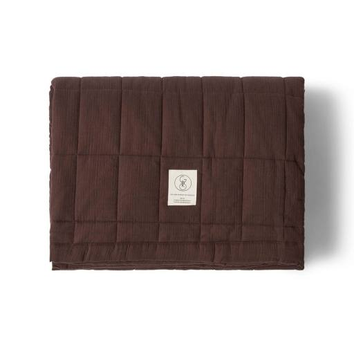 "Gro Company - Tagesdecke ""Nala Quilted Blanket'', black brown"