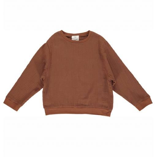"""Gro Company - Sweatshirt """"Gert"""", cinnamon"""