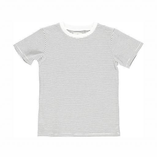 "Gro Company - T-Shirt ""Norr"", ecru/black"