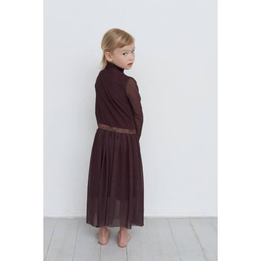 "Gro Company - Kleid ""Tove Turtle Neck Dress"", black brown"