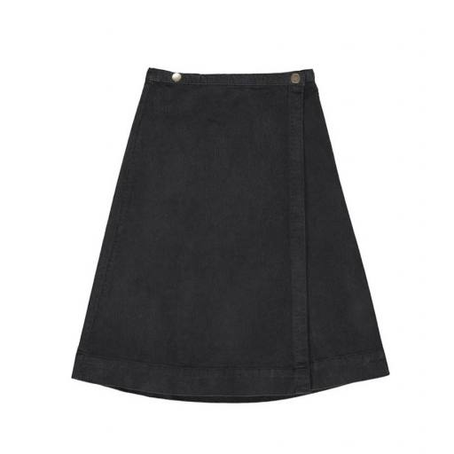 "Gro Company - 2 Button Skirt ""Saga"", black"