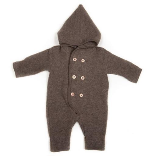 "Huttelihut - Baby-Fleeceanzug ""Elf"", marmo brown"