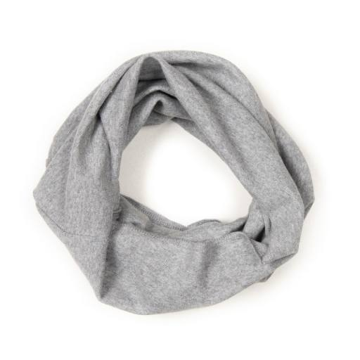 "Huttelihut - Loopschal ""Dapper"", light grey"