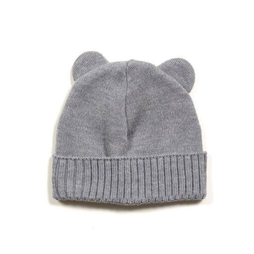 "Huttelihut -Baby-Mütze ""Bear Cup Hat"", light grey"