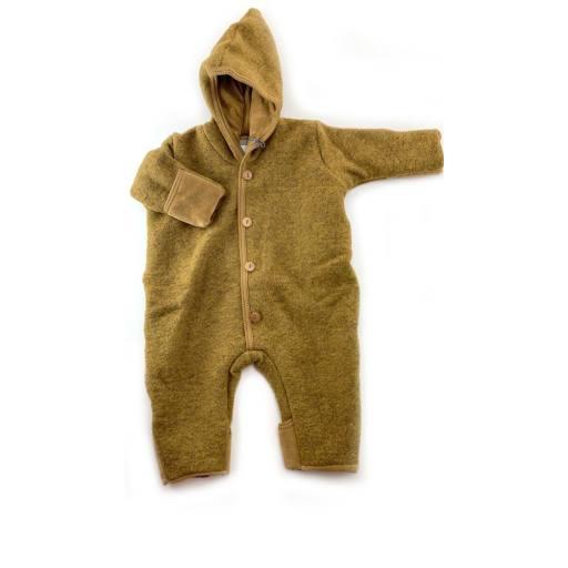 """Huttelihut -Babysuit """"Pooh Babysuit double /elf hat"""", ocre"""