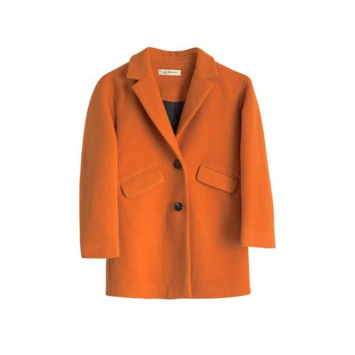 I dig denim - Bibbi wool coat, orange