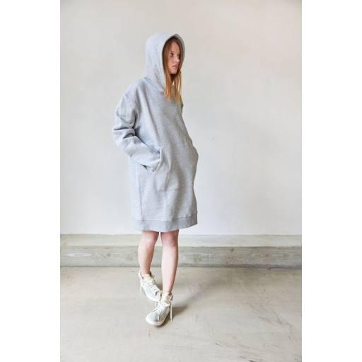 """I dig denim - Sweatkleid """"Morgan hoodie dress adult"""", grey melange"""
