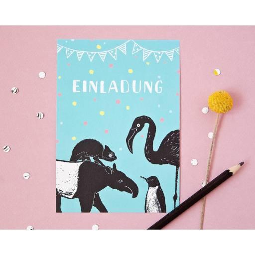 "Katja Rub -Postkarte ""Einladung"", 10,5 x 14,8 cm"