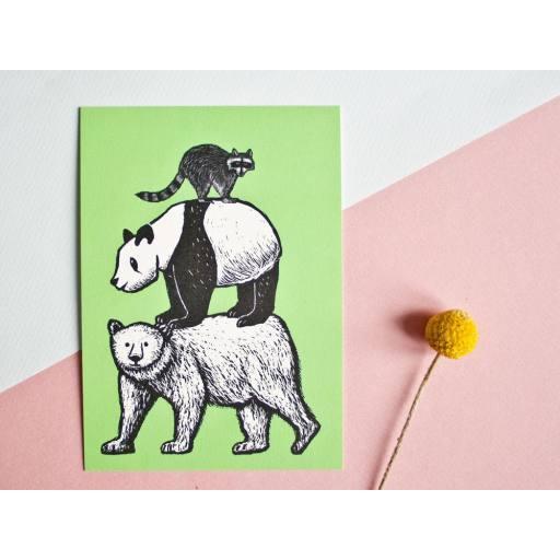 "Katja Rub -Postkarte ""Bären"", 10,5 x 14,8 cm"