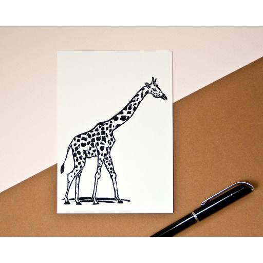 "Katja Rub -Postkarte ""Giraffe"", 10,5 x 14,8 cm"