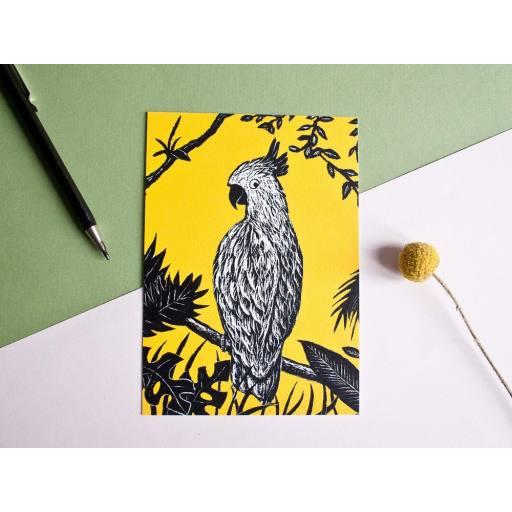 "Katja Rub -Postkarte ""Kakadu"", 10,5 x 14,8 cm"