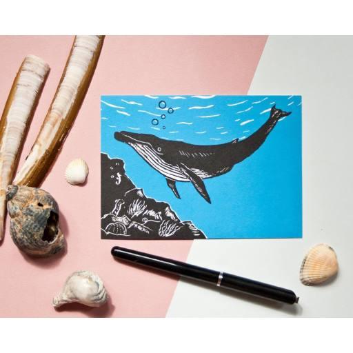 """Katja Rub -Postkarte """"Wal"""", 10,5 x 14,8 cm"""