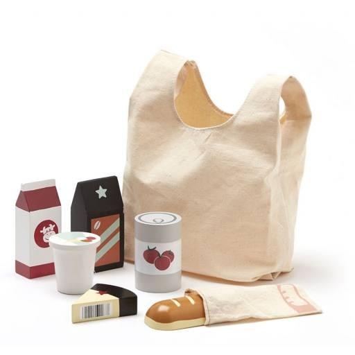 Kids Concept - Einkaufstüte mit Lebensmitteln