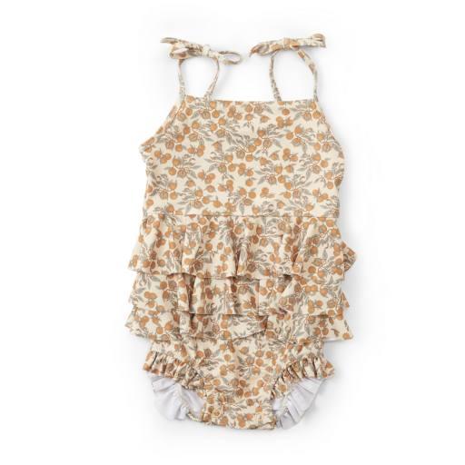 Konges Sløjd - Manuca Frill Swimsuit, orangery beige