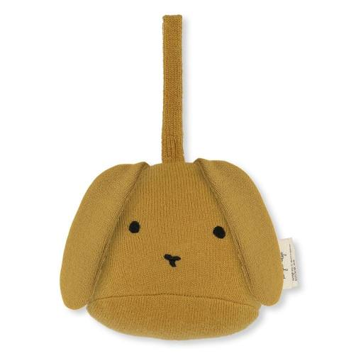 "Konges Sløjd - Rassel ""Activity Toy Rabbit"", mustard"