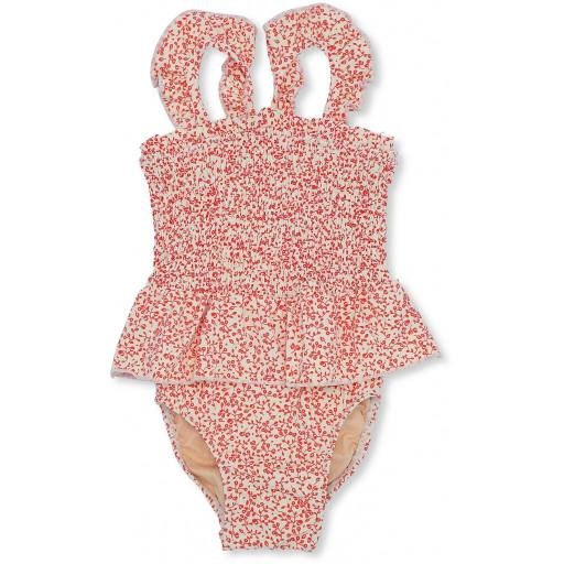 Konges Sløjd - Girl UV-Swimsuit, blossom mist grenadine