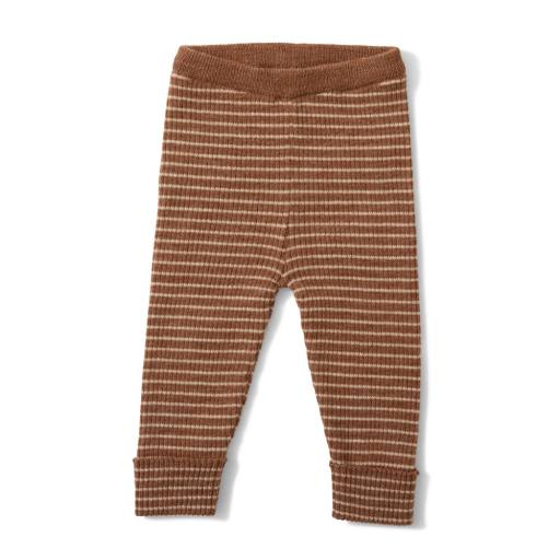 "Konges Sløjd - Strickhose ""Meo Pants"", almond/creamy white"