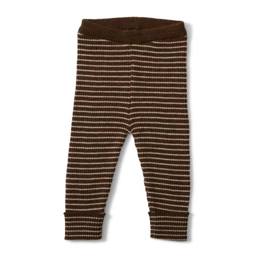 """Konges Sløjd - Strickhose """"Meo Pants"""", cacao/creamy white"""
