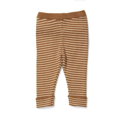 "Konges Sløjd - Strickhose ""Meo Pants"", dijon off white"