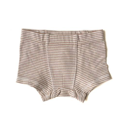 "Konges Sløjd - 2er-Set Ripp-Boxershorts ""Saya"", faded brown/beige"