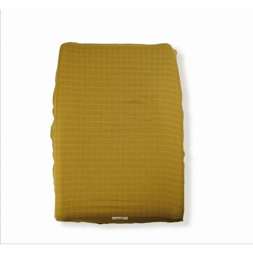 """Lebôme - Changing mat cover """"Côme"""", mustard"""