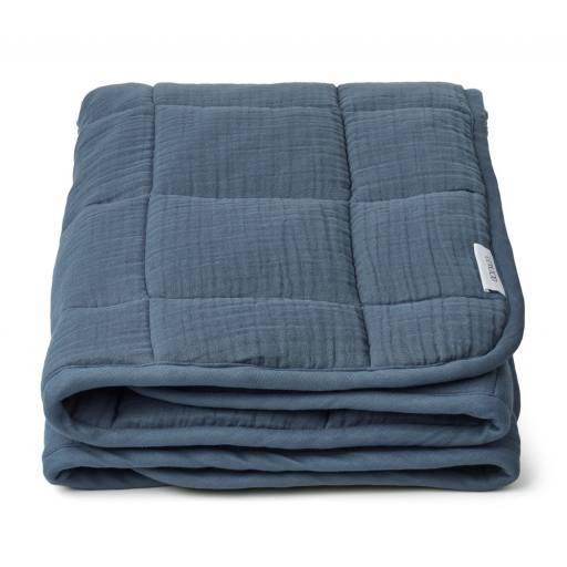 "Liewood -Tagesdecke ""Mette Quilted Blanket"", blue wave"