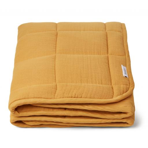 "Liewood -Tagesdecke ""Mette Quilted Blanket"", yellow mellow"