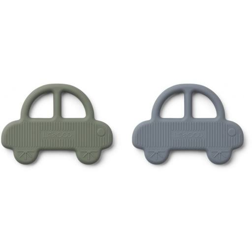 "Liewood -2er-Pack Beißring ""geo teether"", car"