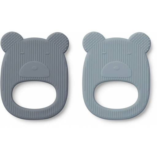 "Liewood -2er-Pack Beißring ""geo teether"", mr bear"