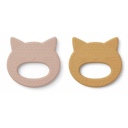 "Liewood -2er-Pack Beißring ""geo teether"", cat"