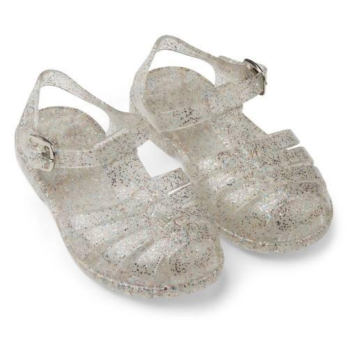"Liewood - Sandalen ""Bre sandals"" glitter multi silver"