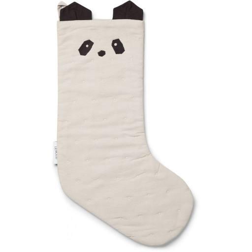 "Liewood - Tinka Christmas Stocking ""Panda"", creme"