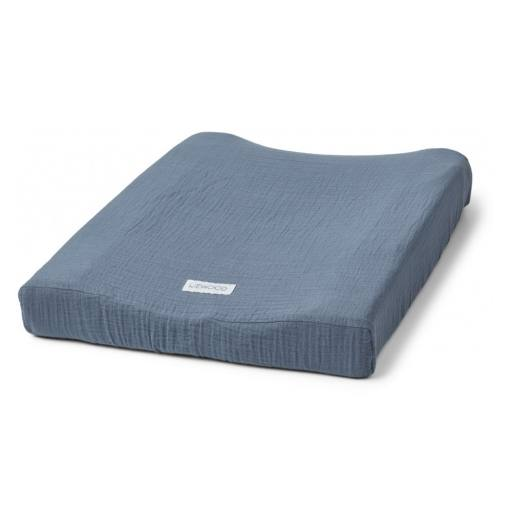 "Liewood - Wickelauflagenbezug ""Cliff muslin changing mat cover"", blue wave"
