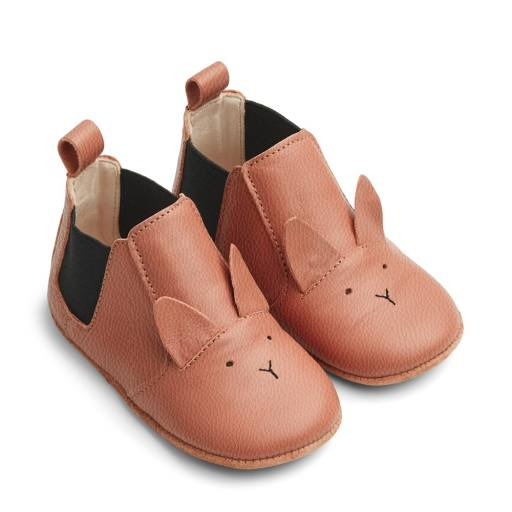 "Liewood - ""Edith leather slippers"", rabbit tuscany rose"