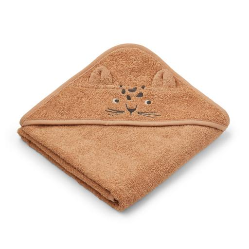 "Liewood - Bio-Badehandtuch ""Albert hooded towel Leopard"", apricot"