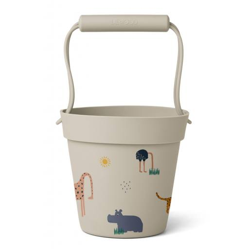 "Liewood - Silikon-Eimer ""Linda bucket"", safari sandy mix"