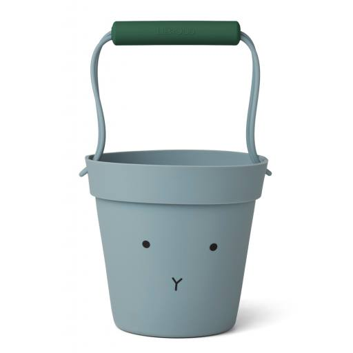 "Liewood - Silikon-Eimer ""Linda bucket"", rabbit sea blue mix"