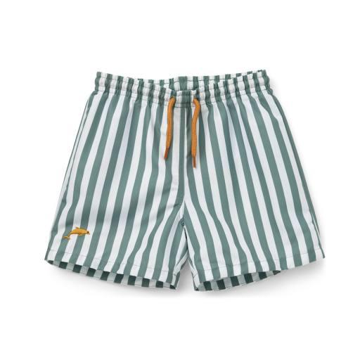 "Liewood - Badeshorts ""Duke board shorts"", peppermint/white"