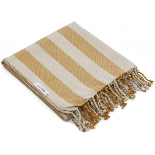 "Liewood - Badelaken ""Mona beach Towel"", mustard sandy"