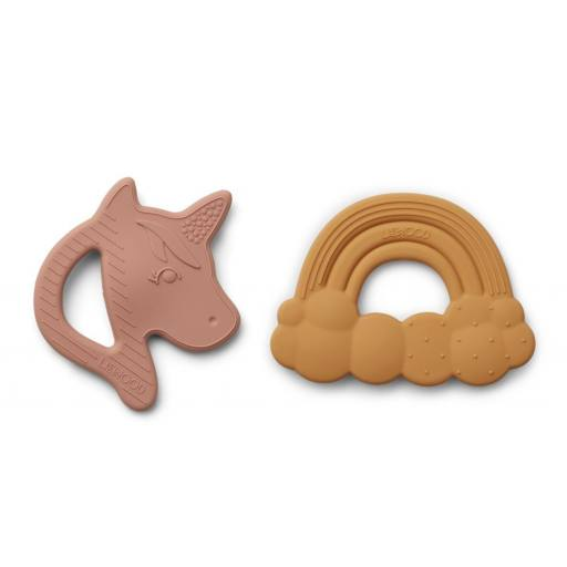 """Liewood - 2er-Pack Beißring """"Roxie silicone teether"""""""