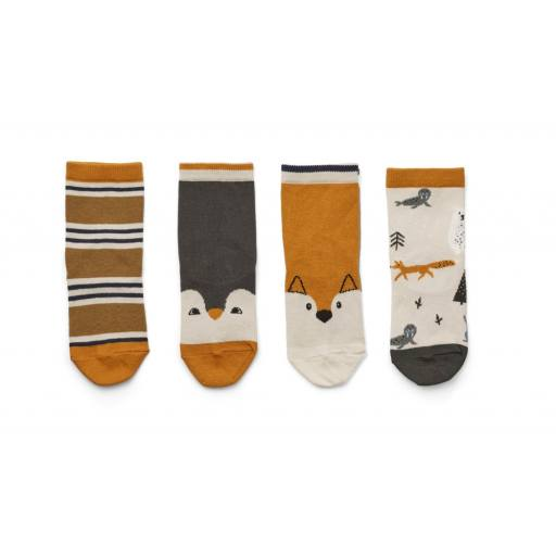 "Liewood - 4er-Pack Socken ""Silas cotton socks"", Artic mix"