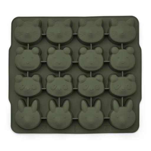 "Liewood - 2er-Pack Silikon-Eiswürfelförmchen ""Sonny ice cube tray"", hunter green/mustard mix"