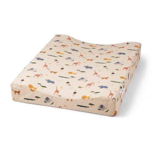 "Liewood - Wickelauflage ""Fritz changing mat"", safari sandy mix"