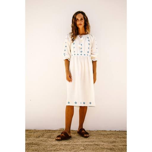 Liilu - Woman Kleid ''Folk Dress', milk